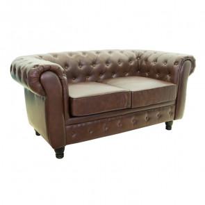 Кожаный диван Chesterfield brown 2S