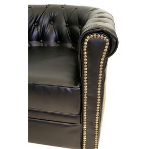 Кожаный диван Karo black 3S