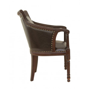 Кресло кожаное Valene brown