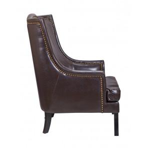 Кресло кожаное Chester brown