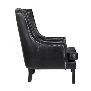 Кресло кожаное Chester black leather