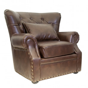 Кресло кожаное Tesco