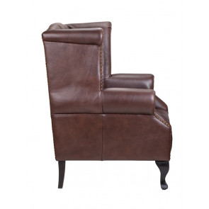Кресло кожаное Royal brown